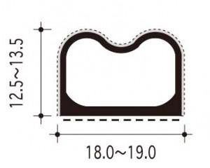 #26-B-1の断面、寸法