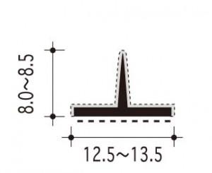 #25-T-1の断面、寸法