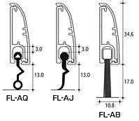 断面図(FL-AQ、FL-AJ、FL-AB)